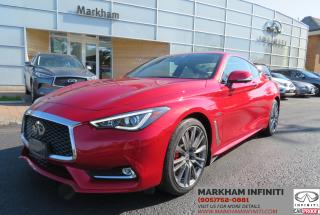 Used 2017 Infiniti Q60 3.0t Red Sport 400 Tech Optic Fiber, Navi, BSM, Bose, 360 Cam for sale in Unionville, ON