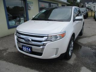 Used 2014 Ford Edge LOADED LIMITED EDITION 5 PASSENGER 3.5L - V6.. LEATHER.. HEATED SEATS.. NAVIGATION.. DUAL SUNROOF.. BACK-UP CAMERA.. BLUETOOTH.. for sale in Bradford, ON
