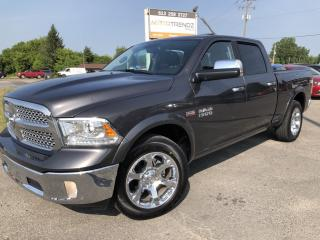 Used 2017 RAM 1500 Laramie Wow! Absolutely Loaded with NAV, Leather, Sunroof, Cooled Seats, Heated Steering and more! for sale in Kemptville, ON