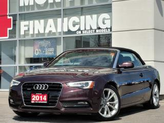 Used 2014 Audi A5 2.0 technik quattro convertible for sale in St Catharines, ON
