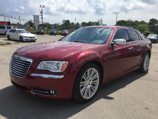 Used 2013 Chrysler 300 C * LEATHER * NAV * REAR CAM * PANO ROOF * HEATED SEATS * REBUILT TITLE for sale in London, ON