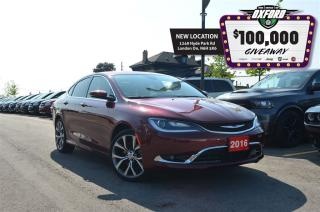 Used 2016 Chrysler 200 C - GPS, Sunroof, Bluetooth, Back Up Cam, Heated S for sale in London, ON