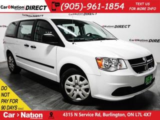 Used 2016 Dodge Grand Caravan CVP| ONE PRICE INTEGRITY| LOCAL TRADE| for sale in Burlington, ON