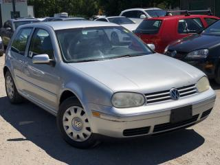 Used 2001 Volkswagen Golf No Accidents 2 Door Manual 5-Speed A/C for sale in Newmarket, ON