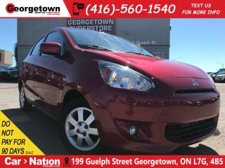 Used 2014 Mitsubishi Mirage SE | AUX | HEATED SEATS | POWER OPTIONS | for sale in Georgetown, ON