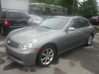 Used 2006 Infiniti G35 4 portes, boîte automatique, Luxe, tract for sale in Laval, QC