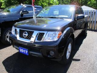 Used 2017 Nissan Frontier POWER EQUIPPED SV MODEL 5 PASSENGER 4.0L - V6.. 4X4.. CREW.. SHORTY.. CLOTH.. CD/AUX/USB.. BLUETOOTH.. for sale in Bradford, ON
