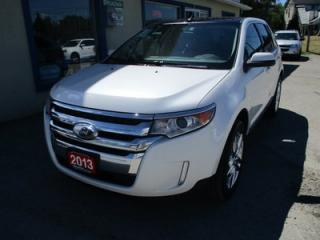 Used 2013 Ford Edge LOADED SEL EDITION 5 PASSENGER 3.5L - V6.. AWD.. LEATHER.. HEATED SEATS.. DUAL SUNROOF.. NAVIGATION.. BACK-UP CAMERA.. for sale in Bradford, ON