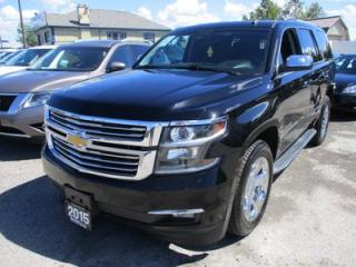 Used 2015 Chevrolet Tahoe LOADED LTZ MODEL 7 PASSENGER 5.3L - V8.. 4X4.. CAPTAINS.. 3RD ROW.. LEATHER.. HEATED/AC SEATS.. NAVIGATION.. SUNROOF.. for sale in Bradford, ON