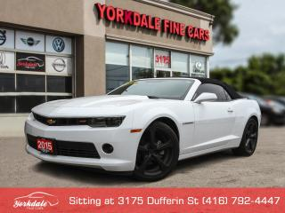 Used 2015 Chevrolet Camaro LT RS Package, Leather. Convertible, No Accidents for sale in North York, ON