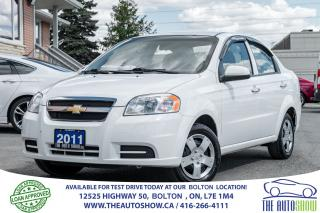Used 2011 Chevrolet Aveo AUTO/AIR NEW TIRES & BRAKES NO ACCIDENTS CERTIFIED for sale in Caledon, ON