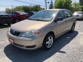 Used 2006 Toyota Corolla CE for sale in Gormley, ON