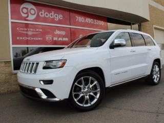 Used 2014 Jeep Grand Cherokee Summit 4x4 / GPS Navigation / Back Up Camera / Heated Seats and Steering Wheel for sale in Edmonton, AB