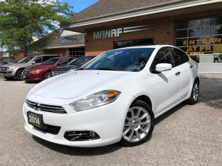 Used 2014 Dodge Dart Limited Remote Starter Sunroof Rear Cam Certified* for sale in Concord, ON