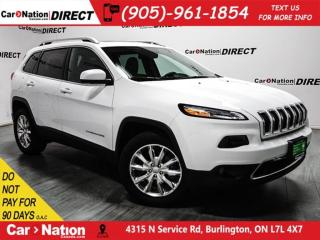 Used 2016 Jeep Cherokee Limited| 4X4| PANO ROOF| NAVI| LEATHER| for sale in Burlington, ON