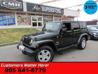 Used 2011 Jeep Wrangler Unlimited Sahara  4X4 AUTO POWER-GROUP 2-TOPS for sale in St Catharines, ON