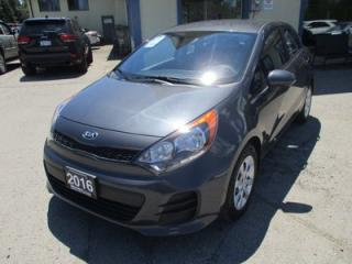 Used 2016 Kia Rio5 FUEL EFFICIENT GDI EDITION 5 PASSENGER 1.6L - DOHC.. 'ACTIVE-ECO'.. CD/AUX/USB INPUT.. BLUETOOTH.. KEYLESS ENTRY.. for sale in Bradford, ON