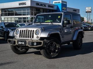 Used 2016 Jeep Wrangler SAHARA, 75TH EDITION, AUTO, LEATHER, HEATED SEATS for sale in Ottawa, ON