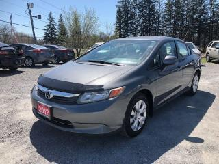 Used 2012 Honda Civic LX for sale in Gormley, ON