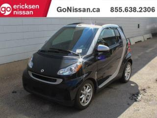 Used 2010 Smart fortwo PASSION: VERY LOW KMS, CONVERTIBLE, HEATED SEATS, GREAT SHAPE for sale in Edmonton, AB