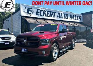 Used 2017 RAM 1500 SPORT CREW CAB 4X4 WITH LEATHER / TONNEAU COVER for sale in Barrie, ON