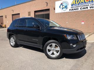 Used 2015 Jeep Compass NORTH - BLUETOOTH - LEATHER - ALLOYS - ONLY 63K for sale in Aurora, ON