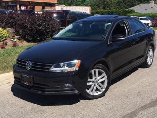 Used 2015 Volkswagen Jetta 1.8 TSI HIGHLINE-LEATHER-ROOF-CAMERA-ONLY 43KM for sale in Mississauga, ON