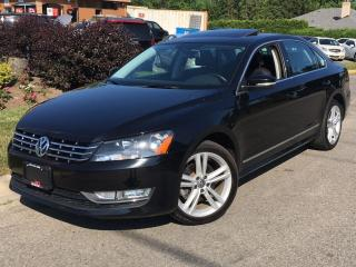 Used 2014 Volkswagen Passat 2.0 TDI-HIGHLINE-LEATHER-NAV-NO ACCIDENTS for sale in Mississauga, ON