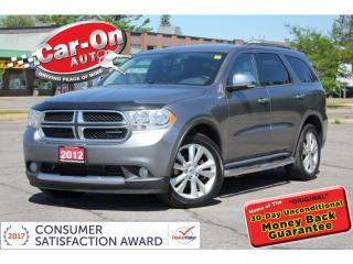 Used 2012 Dodge Durango Crew Plus AWD 7 SEAT LEATHER NAV SUNROOF DVD for sale in Ottawa, ON