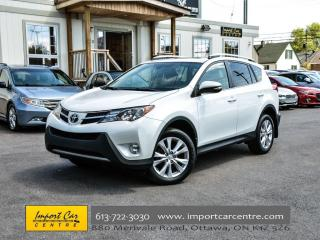 Used 2014 Toyota RAV4 Limited LEATHER ROOF LOW KMS WOW!!! for sale in Ottawa, ON