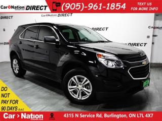 Used 2016 Chevrolet Equinox LS| AWD| BACK UP CAMERA| OPEN SUNDAYS| for sale in Burlington, ON