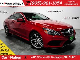 Used 2017 Mercedes-Benz E-Class E400 4MATIC Coupe| NAVI| PANO ROOF| for sale in Burlington, ON