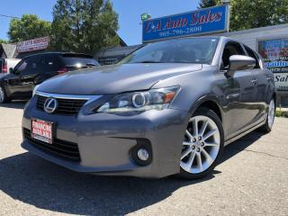 Used 2013 Lexus CT 200h FWD 4dr Hybrid. PREMIUM PKG, LEATHER SUNROOF Heated seats for sale in Brampton, ON