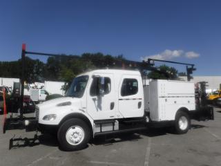 Used 2006 Freightliner M2 106 MEDIUM DUTY Diesel Crew Cab, Crane Truck Air Brakes for sale in Burnaby, BC