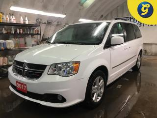 Used 2017 Dodge Grand Caravan CREW*TOUCH SCREEN*NAVIGATION*6.5-in Touch Screen/CD/HDD/NAV*LEATHER*PHONE CONNECT*DVD*Second-row overhead DVD console*HEATED SEATS/STEERING WHEEL*POWE for sale in Cambridge, ON
