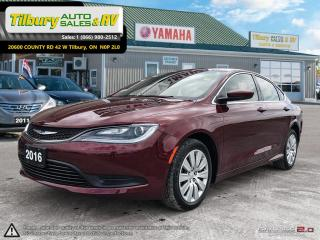 Used 2016 Chrysler 200 LX. *Low KM's. Bluetooth. Push Button Start* for sale in Tilbury, ON