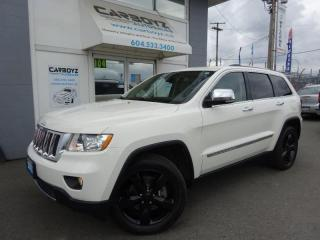 Used 2012 Jeep Grand Cherokee Overland 4WD 5.7L V8, Nav, Pano Roof, Low Kms for sale in Langley, BC