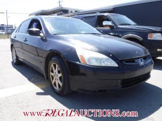 Used 2003 Honda Accord 4D Sedan for sale in Calgary, AB