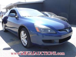 Used 2004 Honda ACCORD EXL 2D COUPE V6 for sale in Calgary, AB