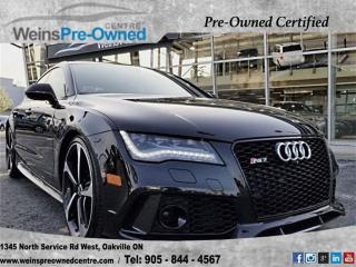 Used 2014 Audi RS 7 Prestigel 560HPl NAVl BANG & OLUFSENl NIGHT VISION for sale in Oakville, ON