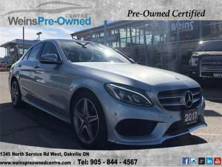 Used 2017 Mercedes-Benz C-Class C300 4MATIC| NAV| 360 CAMERA| PANO ROOF| LED PKG for sale in Oakville, ON