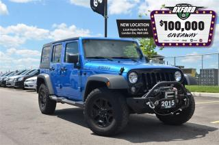 Used 2015 Jeep Wrangler Unlimited Sport - One Owner, 4x4, Winch, Bluetooth, GPS for sale in London, ON