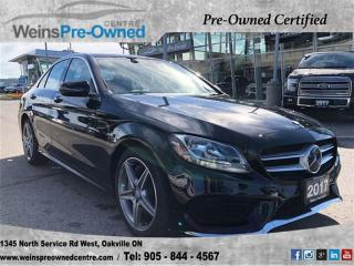 Used 2017 Mercedes-Benz C-Class C300 4MATIC| NAV| PANO ROOF| CAMERA| LANE ASSIST for sale in Oakville, ON