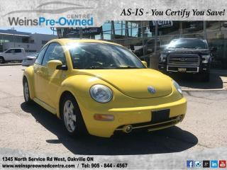 Used 2002 Volkswagen Beetle GLS l SOLD AS IS l YOU CERTIFY YOU SAVE l for sale in Oakville, ON
