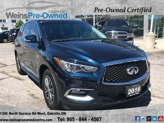 Used 2016 Infiniti QX60 4DR AWD for sale in Oakville, ON