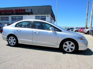 Used 2006 Honda Civic LX Sedan AUTOMATIC ALLOYS CERTIFIED 2YR WARRANTY for sale in Milton, ON