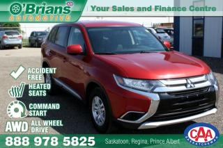 Used 2016 Mitsubishi Outlander ES - Accident Free! w/AWD,, Command Start for sale in Saskatoon, SK