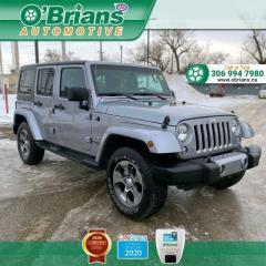 Used 2017 Jeep Wrangler Unlimited Sahara - Accident Free! w/4x4, Backup Camera, Navigation for sale in Saskatoon, SK