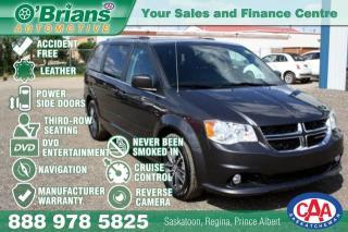 Used 2017 Dodge Grand Caravan SXT Premium Plus w/Mfg Warranty, Nav, DVD, Leather, Loaded! for sale in Saskatoon, SK