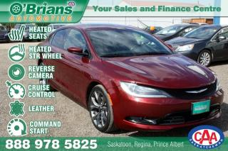 Used 2015 Chrysler 200 S w/Command Start,, Leather for sale in Saskatoon, SK